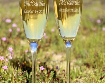 Wedding Toasting Flutes, Champagne Flutes,  Personalized Champagne Flutes, Personalized toasting glasses
