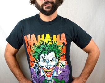 Vintage 1989 80s Joker Batman Tee RARE Tshirt