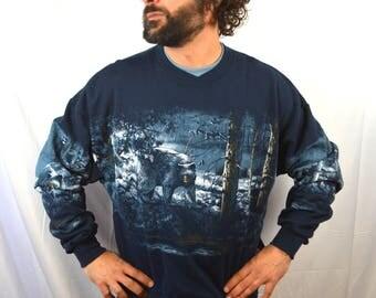 Vintage 1990s 90s Bear Sweatshirt