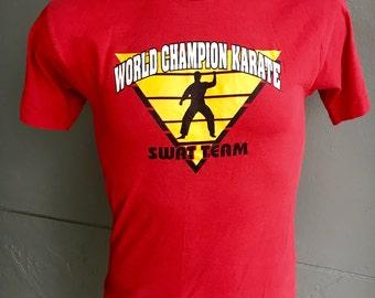 World Champion Karate 1994 vintage t-shirt - red size medium