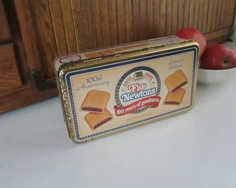 Fig Newtons Collectible Tin – 100th Anniversary Limited Edition Tin – Vintage Advertising & Storage