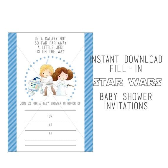 wars baby shower fill in instant download baby shower invitations