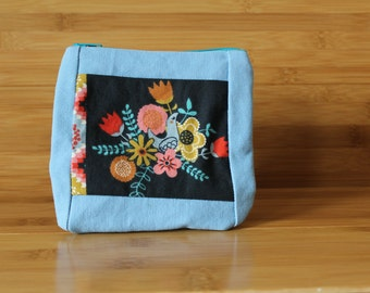 Organic Partridge Small zipper Pouch