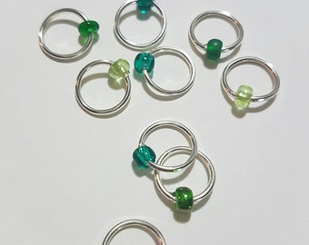 Evergreen - Ten Sock/Lace Snagless Stitch Markers