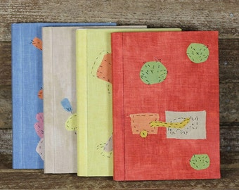 handmade plant dyed organic cotton linen and silk address books: by kata golda