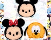 Tsum Tsum Patch, Cute Disney Embroidered Iron On Patch, Mickey, Minnie Mouse, Pluto Iron on Applique, Disney Patch, Embroidery Applique,W400