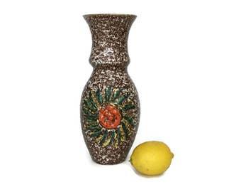 Vintage Italian Mid Century Pottery Vase // Flower Vase // Italy