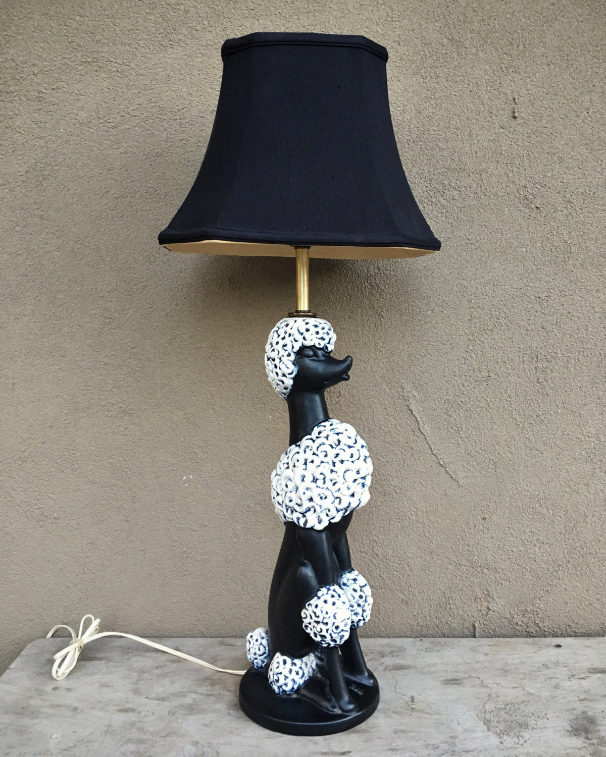 1950s ceramic poodle lamp with black silk shade vintage table 1950s ceramic poodle lamp with black silk shade vintage table lamp midcentury decor 1950s kitsch dog lover gift phyllis morris style geotapseo Images