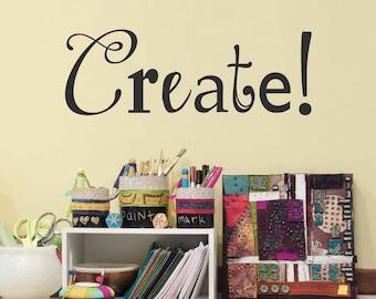 create decal craft room or art studio wall decal artist decor - Design A Wall Sticker