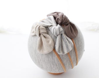 NB - Youth   3 pack neutral nylon headband set   textured headband   baby girl headband   simple headband   headband set   baby girl gift