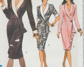Vogue 7835 / Vintage Sewing Pattern / Mock Wrap Dress / Sizes 14 16 18