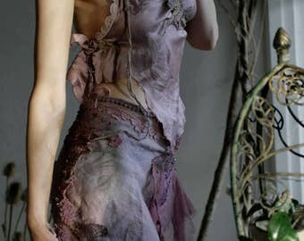 Purple faery silk top