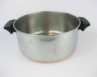 Vintage Revere Ware 4.5 QT. Copper Clad Stainless Steel Stock Pot