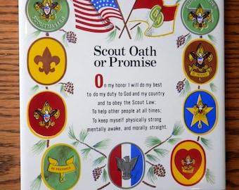 vintage 1970s Boy Scout tile scout oath or promise.