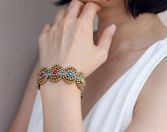 Beaded Bracelets Woven Circle Lace Candy