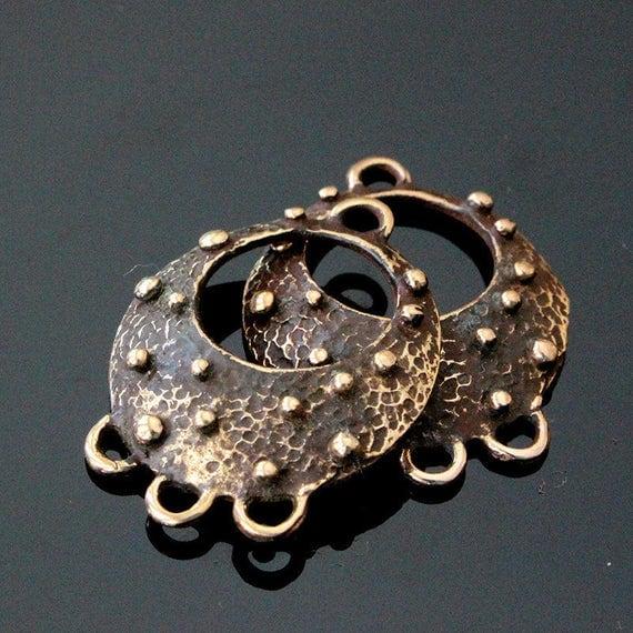 Handmade Bronze Earring Findings - 3 Hole Chandelier - Earring ...