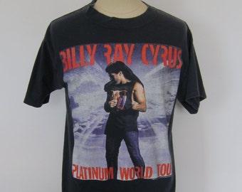 Vintage BILLY RAY CYRUS Platinum World Tour 1993 Black T-Shirt Large