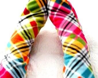 Fleece Socks, Ladies Soft Cozy Fleece Socks, Plaid Handmade Fleece Socks, Soft Women's Bed Socks, Senior Citizen Gift, Mother's Day Gift