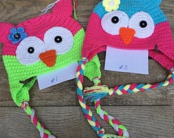 Cute Girly Owl Hats