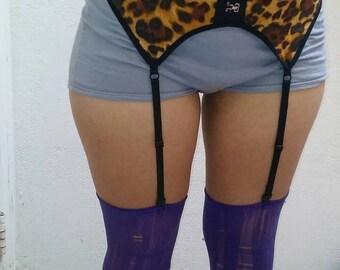 Leopard Garter Belt