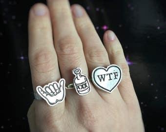 Shaka hand ring