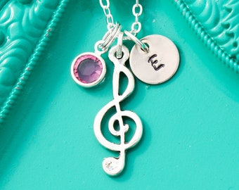 SALE • Music Note Necklace • Music Teacher • Piano Teacher Gift • Music Gift • Treble Clef Music Lover Gift • Musician Gifts• Music Necklace