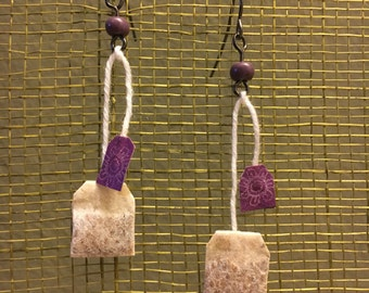 Mini Teabag Earrings