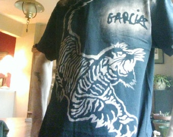 Jerry Garcia Grateful Dead Guitar Alembic Tiger Tee Shirt