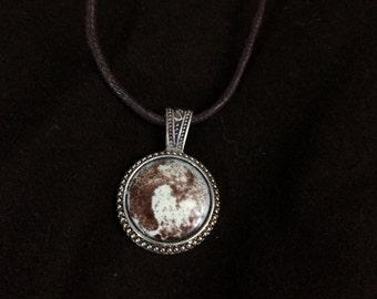 Pluto Glass Enamel Medallion Pendant
