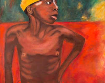 Congo Boy, Oil Painting by Trish Vernazza