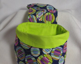 Stay Put Pouch Lime Circles Wheelchair Caddy