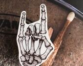 Bones Vinyl Laptop Sticker | Car Decal | Phone Sticker