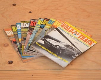 Vintage Set of Ten 1970 Road & Track, Classic Collector Car Magazines