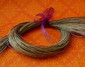 "Natural Grey Gray HorseHair feor Braiding, Weaving Jewelry Making Tassels 12 grams 16-17"" long - HH-GRY"