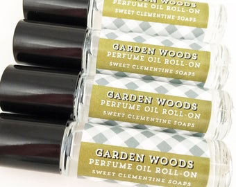 Perfume Oil, Roll On Perfume, Fragrance Roll On, Garden Woods, Mint, Fennel, Greenery, Black Currant