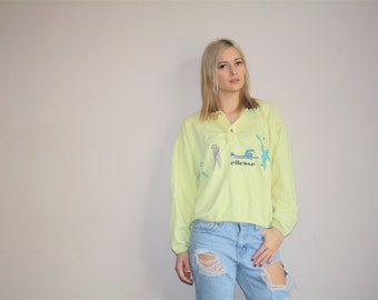 80s Ellesse Sportswear Vintage Pastel Retro Sport Sweatshirt - 1980s Retro Graphic Sweatshirts - W00511