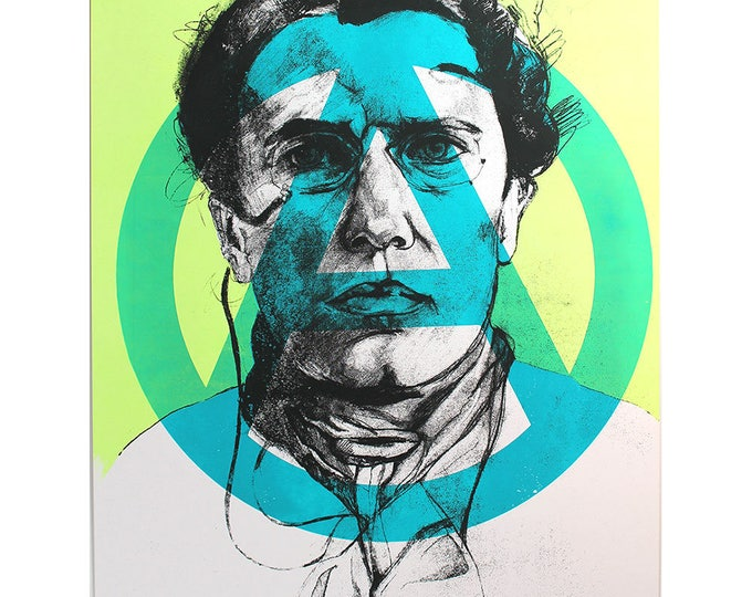 Apostle of Anarchy (Color Variation), Screenprinted poster of revolutionary Emma Goldman.
