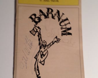 Playbill 1981 Barnum St James Theatre Signed Jim Dale Bill Witter Vintage Theater Program NYC