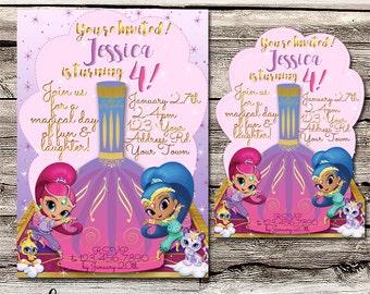 Shimmer & Shine Invitation - Customisable - Printable - Digital File - Shower - Wedding