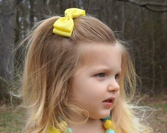 Baby Girl Yellow Hair Bow, Baby Bows, Hair Accessories, Girls Hair Clip, Girls Gift, Girls Hair Bows, Bows for Girls, Baby Hairbow