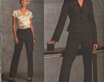 2008 Anne Klein Suit Pattern  Vogue 1041  Vogue American Designer  Out of Print  Power Suit UNCUT, Factory-Folded  Multi-Sized 6-8-10-12