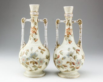 Hand Painted Porcelain Vase Mantel Vase RW Rudolstadt German Porcelain