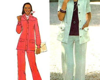 Simplicity 6405 - Size 16- Bust 38 in - 1974 Shirt Jacket Pattern Only - Vintage Sewing Pattern