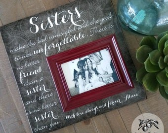 Sister Gift, Maid of Honor Picture Frame, There Is No Better Friend Than A Sister, 16x16 The Sugared Plums Frames