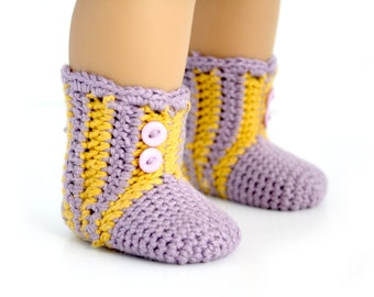 "Download Now - CROCHET PATTERN 18"" Doll Slipper Socks"