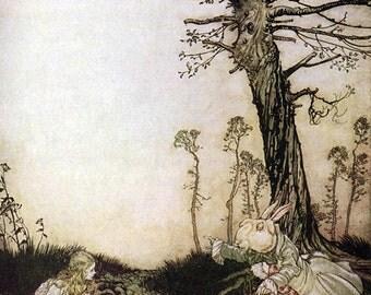 White Rabbit,  Arthur Rackham, Vinatge Art Print