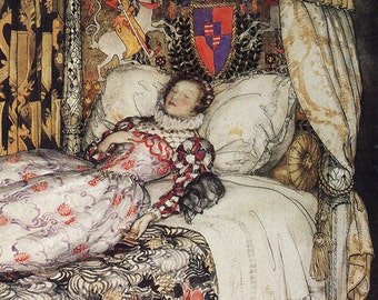 Sleeping Beauty, Arthur Rackham, Vinatge Art Print