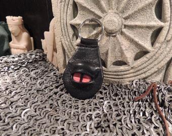 Dragon eye keychain (Black Leather with OrangeEye)