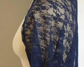 Shawl, lace shawl, bridesmaid lace shawl, shrugs boleros, navy blue bridesmaid shrug, evening shawls wraps, mother of the bride