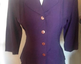 vintage peplum jacket top